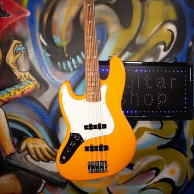 Fender Player Jazz Bass Pau Ferro Fingerboard Left-Handed Capri Orange for sale