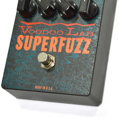 Voodoo Lab Super Fuzz Classic '60s Fuzz /Distortion Sounds True Bypass Guitar Effect Pedal for sale