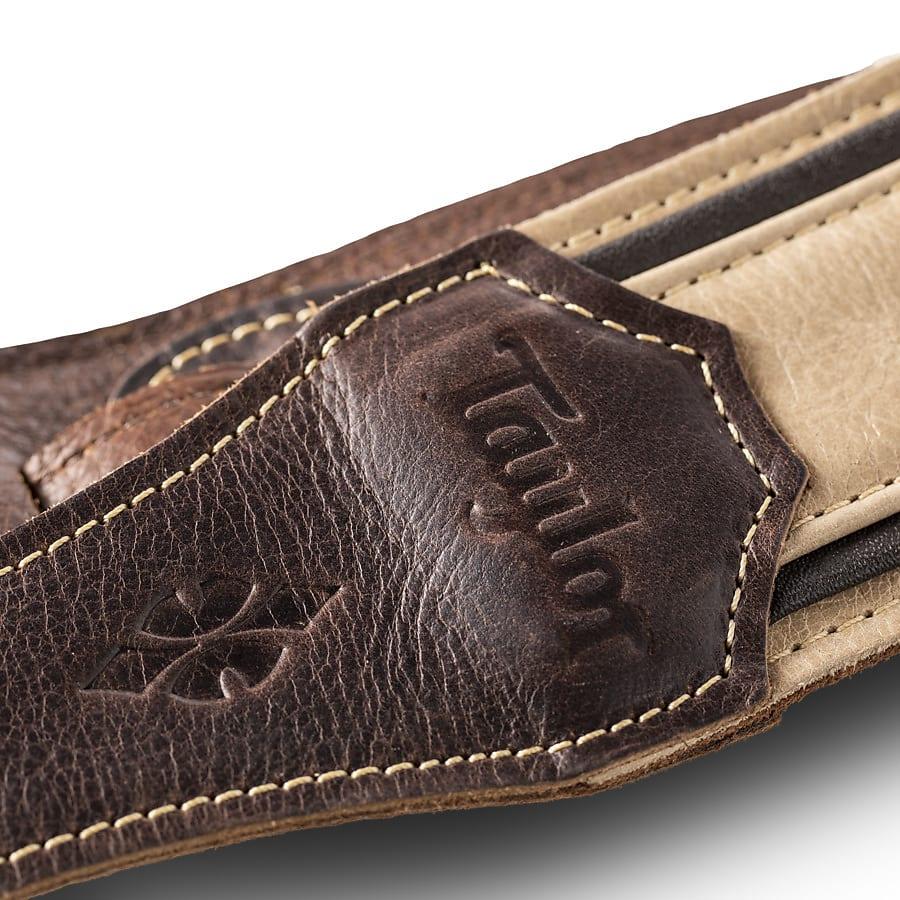 Taylor Reflections Strap (700 Series), Light Spruce/Ebony Leather, 2.5