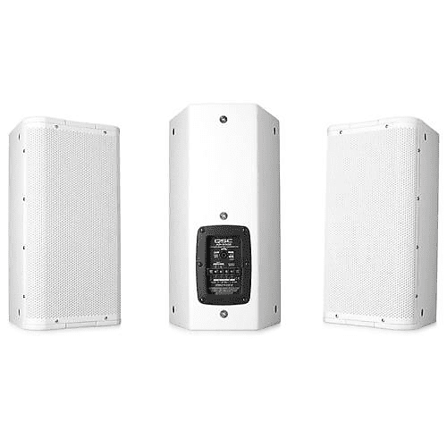 QSC Acoustic Performance AP-5102 10 450W 2-Way Trapezoidal Loudspeaker,  105deg  Axisymmetric Coverage Angle, 60Hz-18kHz Frequency, 8 Ohms, Single,  Wh