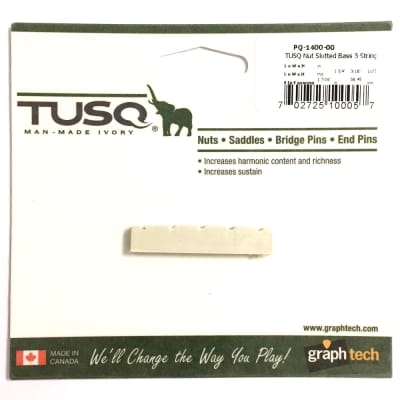 """5 String Bass Nut GraphTech TUSQ PQ-1400-00 Pre Slotted 1.75"""""""