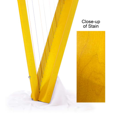 Rees Harps Sharpsicle Harp Yellow - 26 strings, Levers on C and F