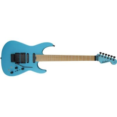 Jackson USA Signature Phil Collen PC1 Satin Electric Guitar, Caramelized Flame Maple Fingerboard, Matte Blue Frost