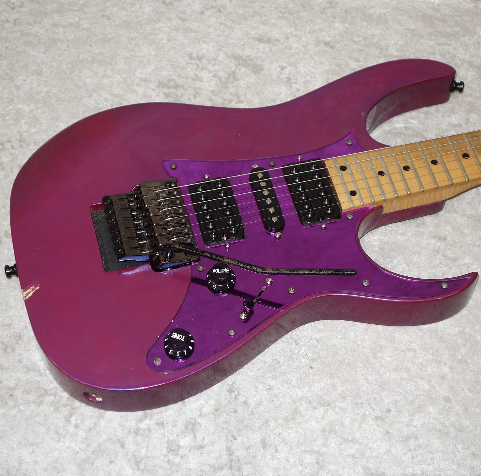 1991 Made in Japan Ibanez RG Series RG550 in metallic purple finish w/  Invaders