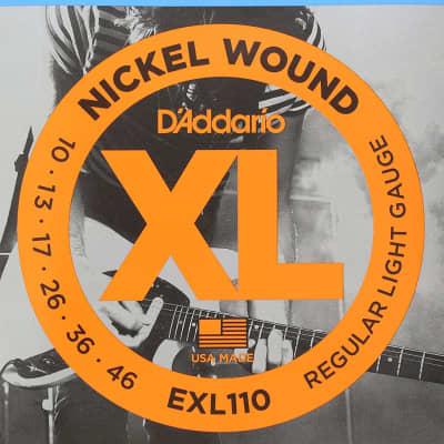 D'addario EXL110 Nickel Wound Guitar Strings, Regular Light