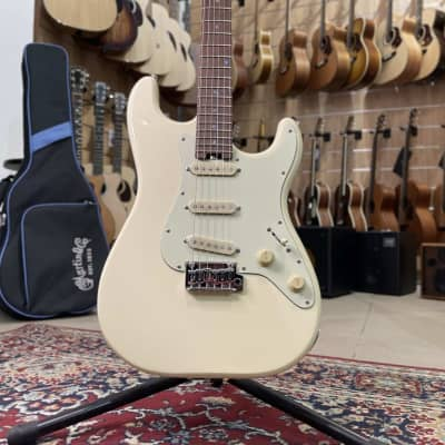 Schecter Traditional Route 66 Saint Louis S/S/S, Rosewood Fingerboard, Aged white for sale