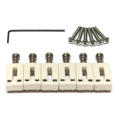 Graph Tech TUSQ Bridge Saddles Set for Strat & Tele, 2-1/16