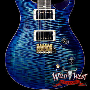 PRS Wood Library Artist Package Custom 24 Fatback Flame Maple Neck African Blackwood Board River Blu for sale
