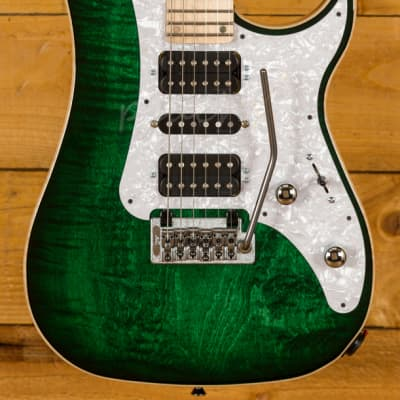 Vigier Excalibur Special HSH Tremolo Mysterious Green Maple Neck Chrome H/W for sale