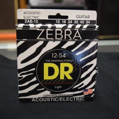 DR Zebra Acoustic Guitar Strings Light 12-54