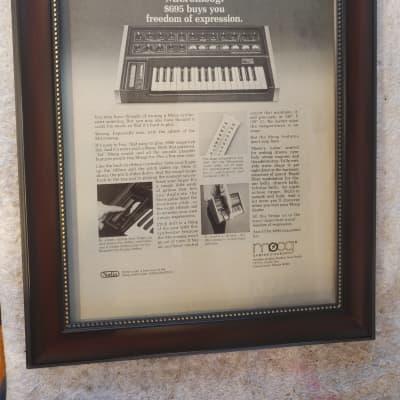 1976 Moog Synthesizers Promotional Ad Framed Moog Micromoog Original