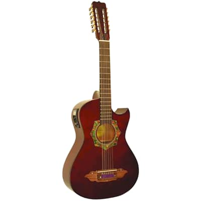New Barraza BZBS101E Mariachi 12-String Bajo Sexto Acoustic Electric Guitar, Natural for sale