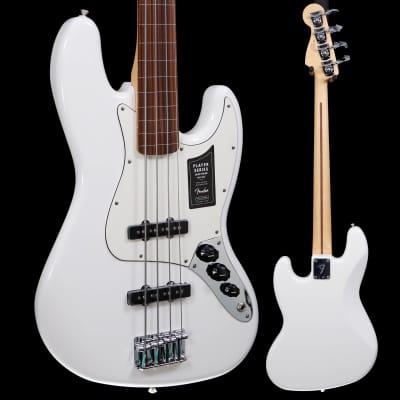 Fender Player Jazz Bass Fretless, Pau Ferro Fb, Polar White 519 8lbs 13.8oz for sale