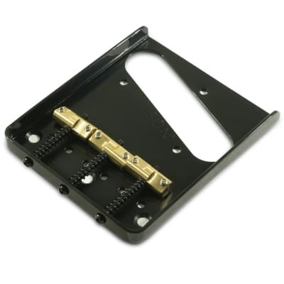 Kluson Hybrid Replacement Bridge For Fender American Standard Telecaster Steel w/ Intonated Brass