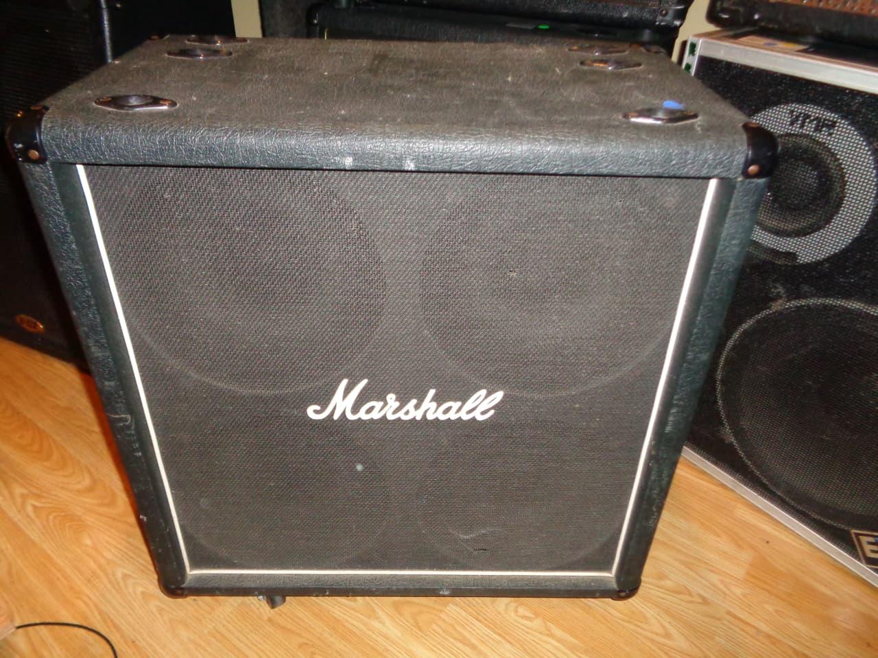 used Marshall Lead 4x12 412 guitar speaker cabinet Model 8412 | Reverb