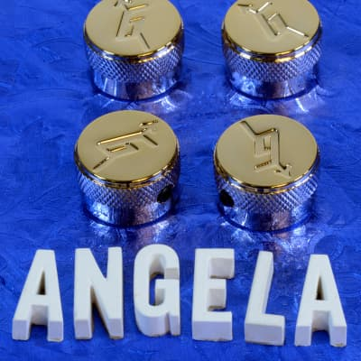 Four Gold G Arrow Control Knobs Generic Replacement For Gretsch Import Models 6mm Metric