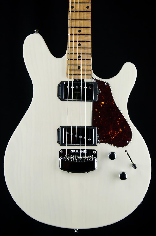 Musicman Valentine Trans Buttermilk Guitar Roasted Neck