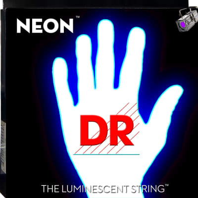 DR Strings NWB-45 Hi-Def Neon White Strings