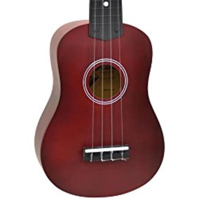 Hilo Standard Soprano Ukulele - Red for sale