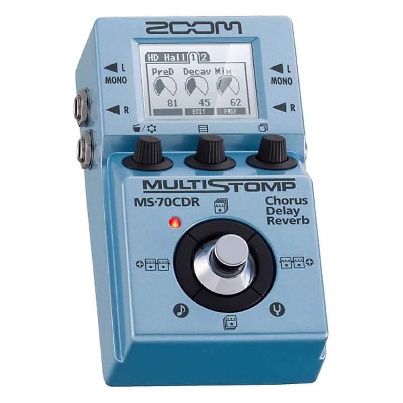 zoom ms 70cdr multi stomp chorus delay reverb guitar bass reverb. Black Bedroom Furniture Sets. Home Design Ideas