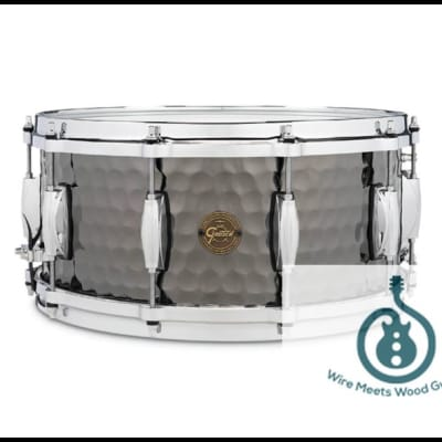 """Gretsch Full Range Series 6.5x14"""" Hammered Steel Snare Drum"""