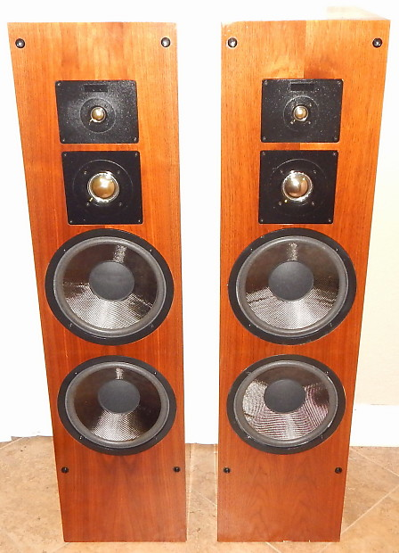 Altec Lansing 510A large tower speakers dual 10