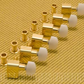 099-0846-200 Fender  Gold w/ Pearloid Buttons Strat/Tele Guitar Tuners
