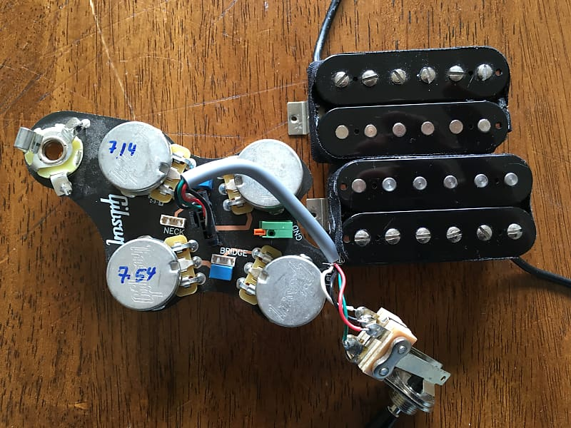 Gibson Left Handed Sg Wiring Harness And 498  490 Humbucker