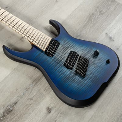 Skervesen Raptor 7 FF 7-String Multi-Scale Guitar, Maple Fretboard, Blue Burst Guitarmory Veterans for sale