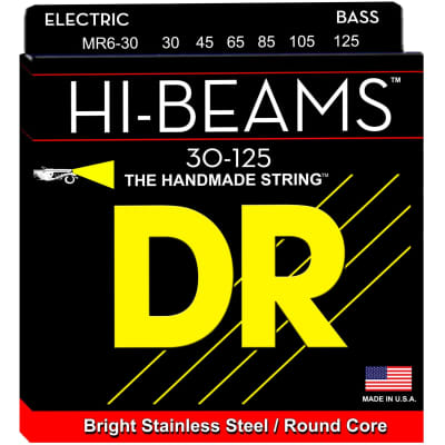 DR Strings MR6-30 30-125 6str Hi-Beam Bass Strings