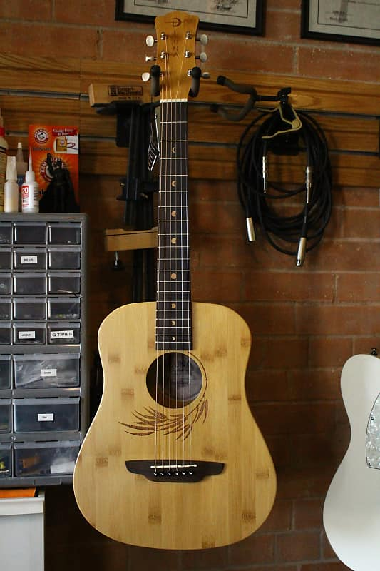 a491919f60 Luna Guitars Safari Bamboo 3/4 Satin Natural Acoustic Guitar | Reverb