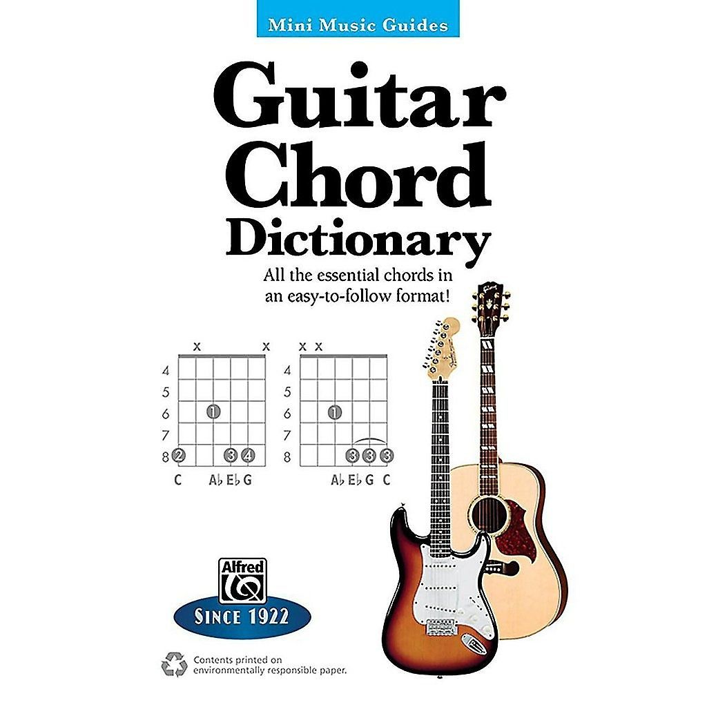 Alfred 00 33501 Mini Music Guides Guitar Chord Dictionary Reverb