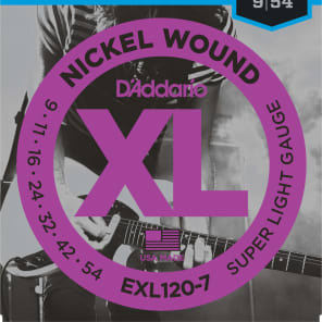 D'Addario EXL120-7 Nickel Wound 7-String Electric Guitar Strings, Super Light Gauge