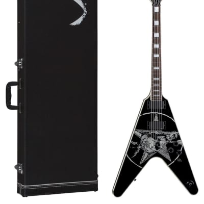 Dean Eric Peterson Signature V Electric Guitar w/ Case, Skull Graphics, EPV for sale