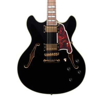 D'Angelico Excel EX-DC Semi-Hollow with Stop-Bar Tailpiece 2020 Black