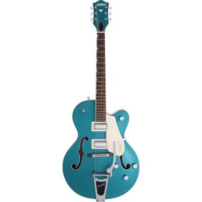 "Gretsch G5410T Ltd. Ed. Electromatic ""Tri Five"" Hollow Body Guitar Single-Cut - Two Tone Ocean/Vintage White"