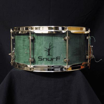 "Snurf Drums Custom Maple 14"" x 6.5"" Snare Drum - Satin Emerald"