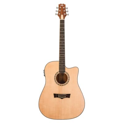 Peavey DW-2 CE Delta Woods Solid Top Dreadnought Acoustic / Electric Guitar for sale