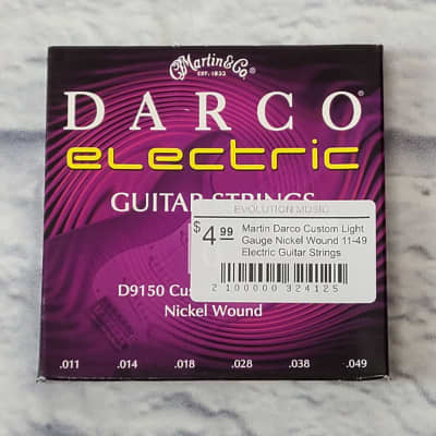 Martin Darco Custom Light Gauge Nickel Wound 11-49 Electric Guitar Strings