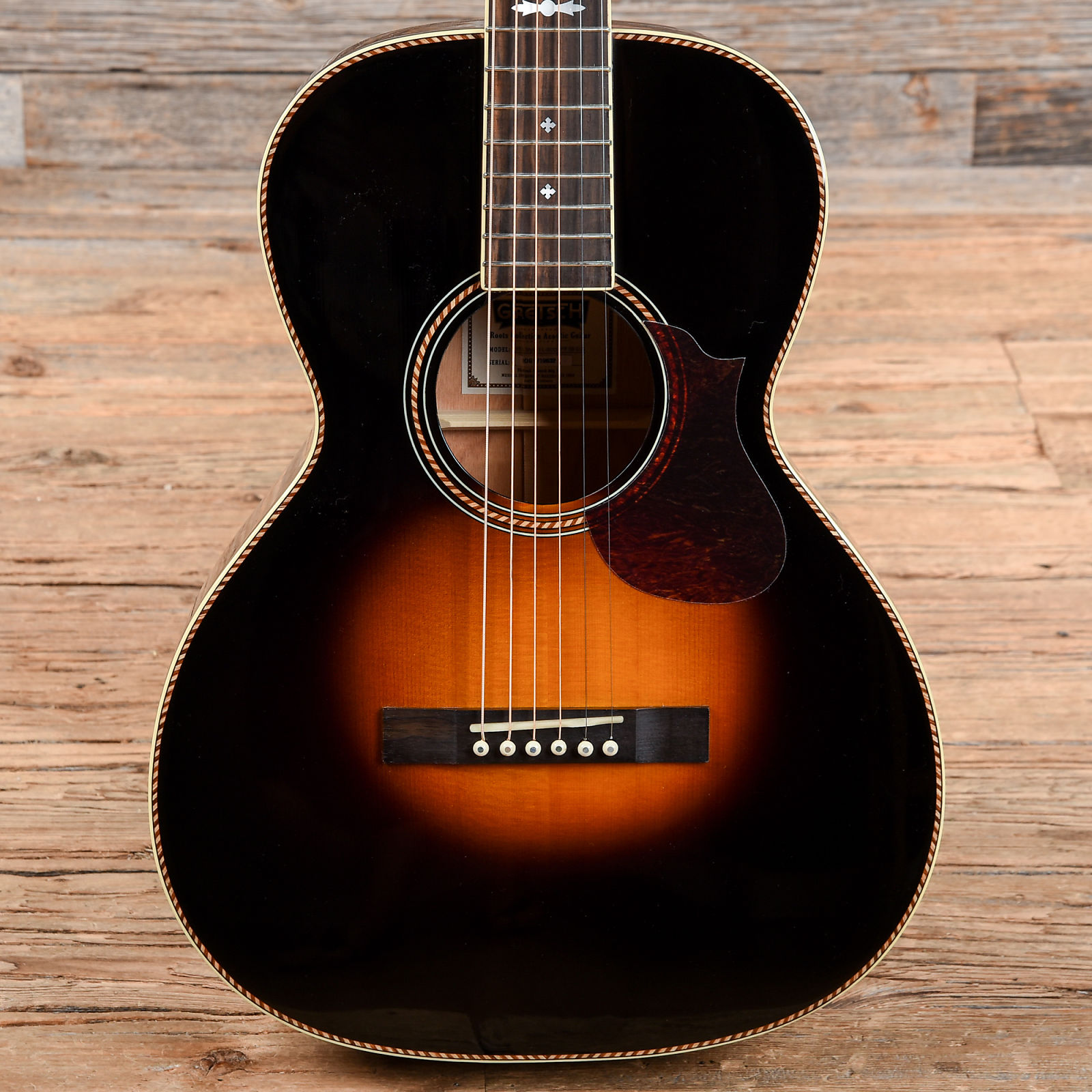 Gretsch Acoustic Guitars >> Gretsch G9531 Style 3 Double 0 Acoustic Guitar Appalachia Burst Used