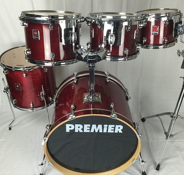 premier xpk 90 39 s trans ruby red lacquer 5pc drum kit reverb. Black Bedroom Furniture Sets. Home Design Ideas