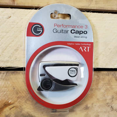 G7th Silver Performance 3 ART Capo - Perfect fit on all of your steel six-strings - Universal Radius