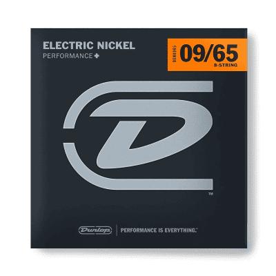 Dunlop DEN0965 Nickel-Plated Steel 8-String Electric Guitar Strings - Light (9-65)