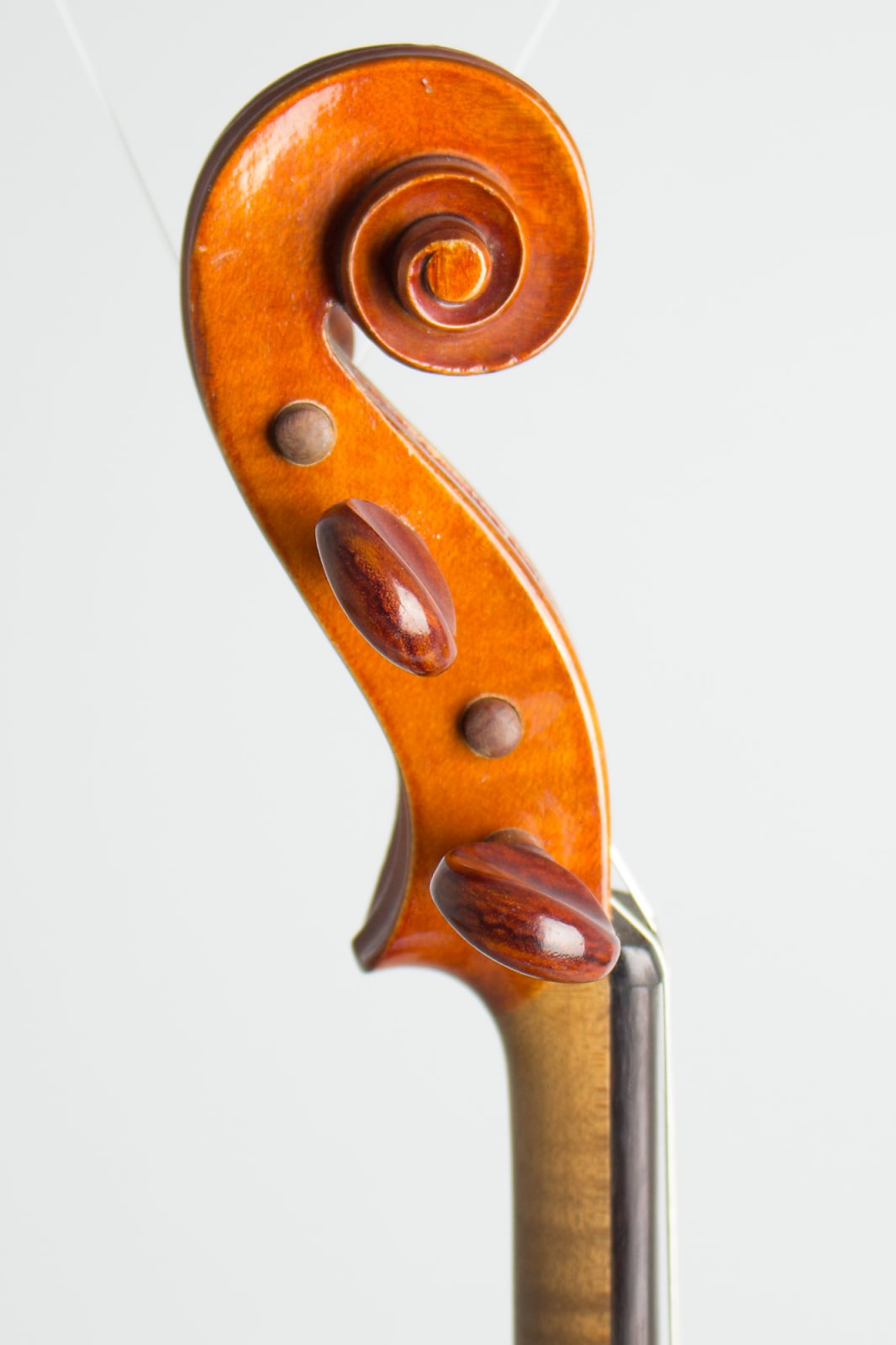 Unknown Violin c. 1924 Brown-Red Finish, black hard shell case.