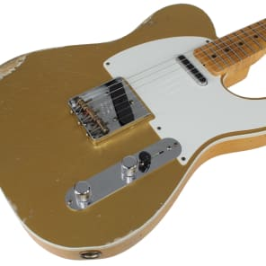 Fender Custom Shop Ltd Relic Double Esquire Special, Amber w/ Aztec Gold for sale