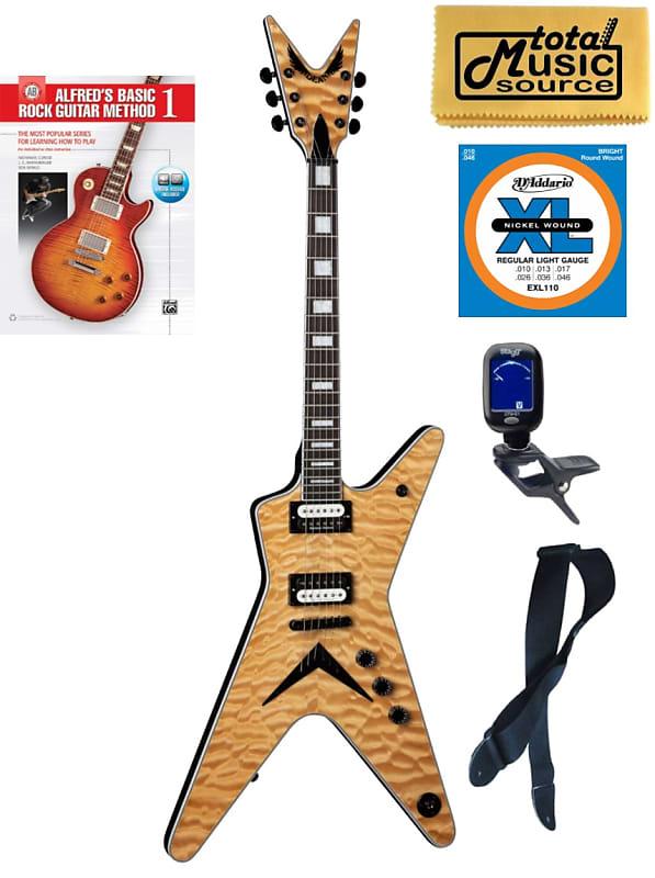 dean ml select quilt top electric guitar natural ml sel qm reverb. Black Bedroom Furniture Sets. Home Design Ideas