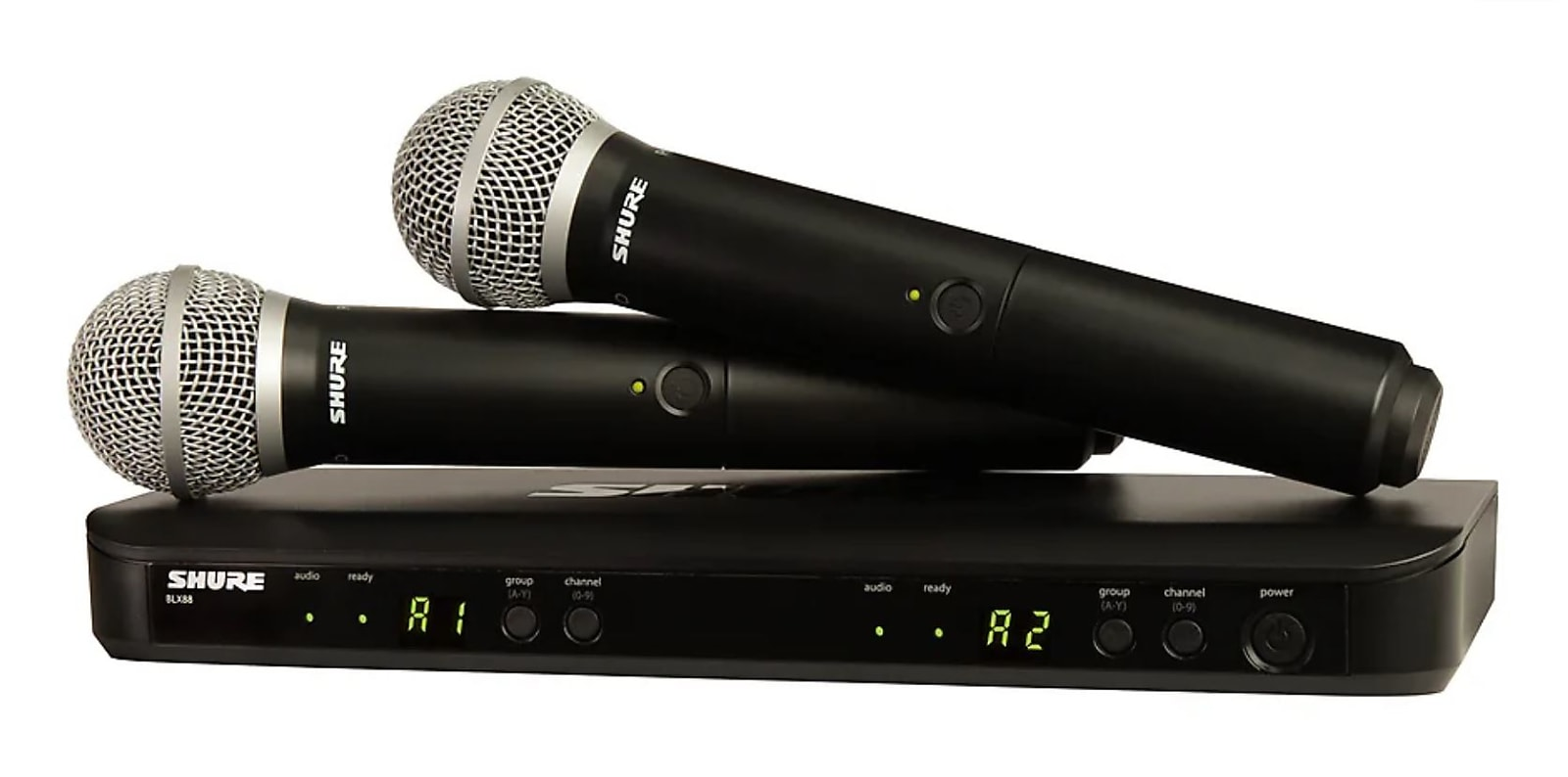 Shure BLX288/PG58 Dual Channel Handheld Wireless System (Freq. H10)