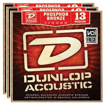 Dunlop DAP1356 Phosphor Bronze Acoustic String Bundle - 13-56