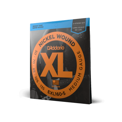 D'Addario Bass Guitar XL160-5 50-135 5-String