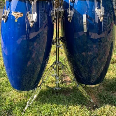 LP Matador Congas with stand Dark Blue stain